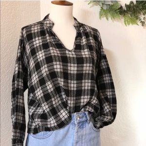 Madewell • Plaid Long Sleeve Flannel Top